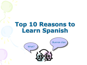 Learn Spanish_Learning Spanish Ten Reasons to do it this year